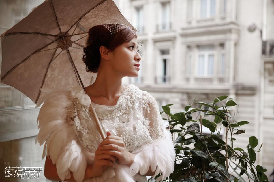 街拍时刻 叶一茜在巴黎怎么可以不优雅图片